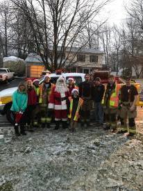 Santa & his helpers